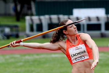 Katerina Cachova in action at the IAAF Combined Events Challenge meeting in Kladno  (Jan Kucharcik)