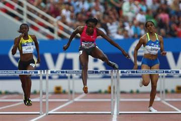 Melaine Walker leads a Jamaican 1-2 in the women's 400m hurdles (Getty Images)