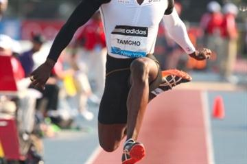 Teddy Tamgho leaps to French Triple Jump record in New York Diamond League (Victah Sailer)