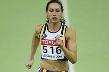 Kim Gevaert of Belgium winning her 60m heat (Getty Images)