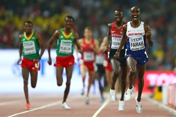 Mo Farah wins the 5000m at the IAAF World Championships, Beijing 2015 (Getty Images)