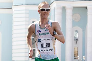 Jared Tallent in action at the 2012 IAAF World Race Walking Cup in Saransk (Getty Images)