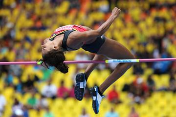 Nafissatou Thiam in the Heptathlon High Jump at the 2013 IAAF World Championships in Moscow (Getty Images)