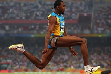 Leevan Sands of the Bahamas sets a national record to win Olympic triple jump bronze (Getty Images)
