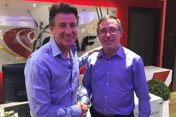 IAAF President Sebastian Coe and Interim CEO / General Secretary Jean Gracia  (IAAF)
