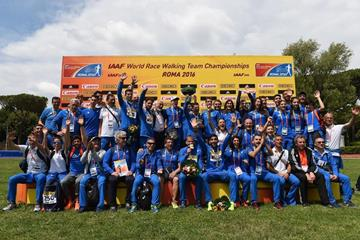 The Italian team at the IAAF World Race Walking Team Championships Rome 2016 (Getty Images)