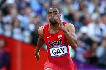 American 100m runner Tyson Gay (Getty images)