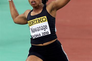 C.D.Priyadharshani Nawanage of Sri Lanka during the Long Jump qualifications (Getty Images)