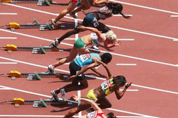 A general view of the women's 100m start (Getty Images)