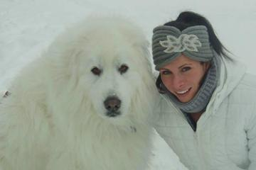 Jenn Suhr and dog Tundra ()