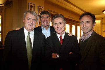 2010 Millrose Games: Ray Flynn, Jim Ryun, Eamonn Coghlan and Marcus O'Sullivan in New York on 28 January 2010 (Victah Sailer)