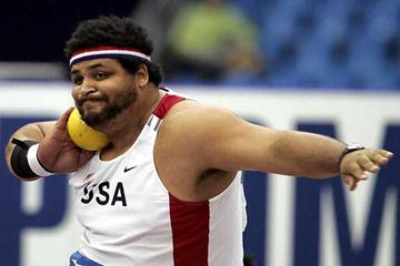 Reese Hoffa puts 22.11m for gold in Moscow (AFP / Getty Images)