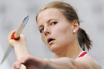 Ingeborg Sverdrup Ronningen of Norway competes during the Women's Javelin Throw qualification round on the day one of the 14th IAAF World Junior Championships (Getty Images)