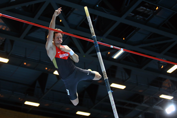 Kai Kazmirek in the heptathlon pole vault (Getty Images)
