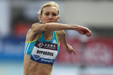 Olga Rypakova takes the first Diamond Race triple jump victory in Shanghai (Errol Anderson)