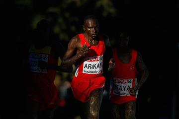 Polat Kemboi Arikan on his way to gold in the senior men's race at the European Cross Country Championships in Samokov (Getty Images)