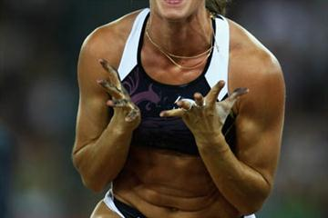 Yelena Isinbayeva sets a World Record of 5.06m in the pole vault in Zurich (Getty Images)