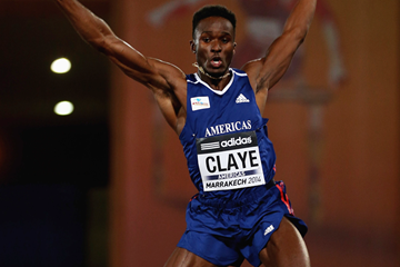 Will Claye in action in the long jump at the IAAF Continental Cup, Marrakech 2014 (Getty Images)