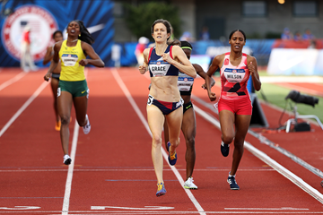 Kate Grace wins the 800m at the US Olympic Trials (Getty Images)