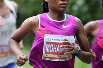 Merima Mohammed of Ethiopia en route to her 2:28:19 win in Ottawa (Victah Sailer)