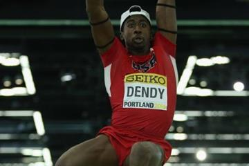 Marquis Dendy in the long jump at the IAAF World Indoor Championships Portland 2016 (Getty Images)