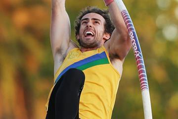 Steve Cain of Australia in the decathlon pole vault (Getty Images)