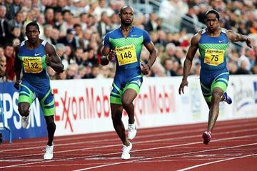 joint World 100m record holder Asafa Powell wins in Oslo (Getty Images)