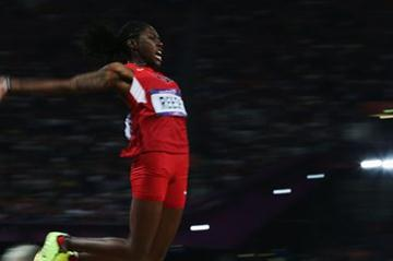 Brittney Reese of the United States in action in the Women's Long Jump Final on Day 12 of the London 2012 Olympic Games at Olympic Stadium on August 8, 2012 (Getty Images)