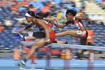 Tia Jones in the 100m hurdles at the IAAF World U20 Championships Bydgoszcz 2016 (Getty Images)