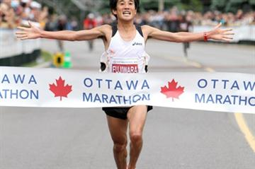 2:09:33 course record for Japan's Arata Fujiwara in Ottawa (Victah Sailer)