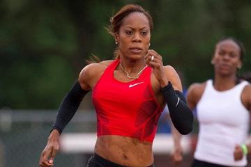 Sanya Richards, victorious in Waco, in her first 400m race in 10 months (Errol Anderson)