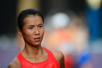 Chinese race walker Liu Hong (AFP / Getty Images)