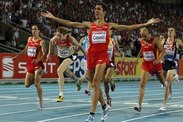 Arturo Casado takes the European 1500m title in Barcelona (Getty Images)
