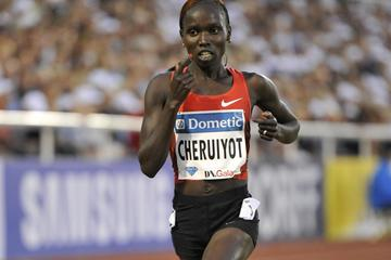 Vivian Cheruiyot, the emphatic 5000m winner in the 2011 DN Galan (Hasse Sjogren / DECA Text&Bild)