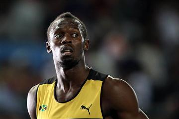 A portrait of defending champion Usain Bolt before Round One of the men's 100m (Getty Images)