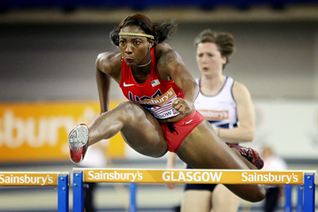 Nia Ali takes the 60m hurdles (AFP / Getty Images)