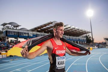 Decathlon winner Niklas Kaul at the IAAF World U20 Championships Bydgoszcz 2016 (Getty Images)