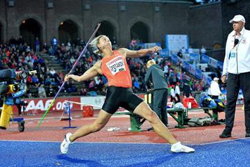 Barbora Spotakova at the 2015 IAAF Diamond League meeting in Stockholm (Deca Text&Bild)
