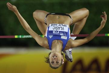 Blanka Vlasic clears 2.05 to win the IAAF / VTB Bank Continental Cup in Split (Getty Images)