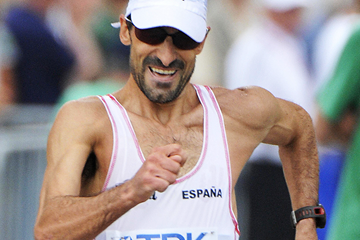 Spain's Jesus Angel Garcia in the 50km race walk at the IAAF World Championships (AFP / Getty Images)