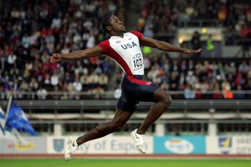 Dwight Phillips' victorious jump (Getty Images)