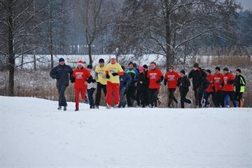 LOC's weekly promotional run on the Bydgoszcz course... deep under snow (Grzegorz Kowalski)