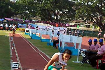 Anju Bobby George long jumping at the South Asian Champs in Kochi (Ram. Murali Krishnan)