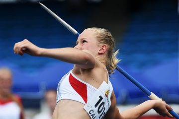 Sarah Lagger in the heptathlon javelin at the IAAF World Youth Championships Cali 2015 (Getty Images)
