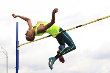 Mutaz Barshim at the 2014 IAAF Diamond League meeting in Birmingham (Jean-Pierre Durand)