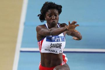 Yargeris Savigne of Cuba competes in the Women's Triple Jump qualification during day one - WIC Istanbul (Getty Images)