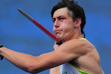 Jake Stein on the way to a World Youth best in the Octathlon in Lille (Getty Images)