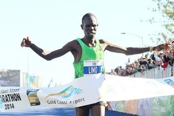 Silah Limo winning the 2014 Gold Coast Marathon (organisers)
