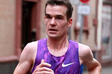Arne Gabius in the 2015 Frankfurt Marathon (Victah Sailer / organisers)