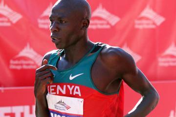 Moses Mosop of Kenya wins the Bank of America Chicago Marathon on October 9, 2011 (Tasos Katopodis/Getty Images)